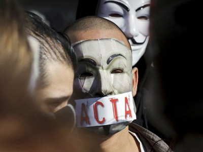 Caught in the ACTA: Protests sweep Europe (PHOTOS)
