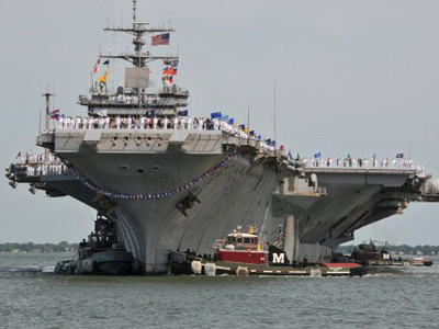 US aircraft carriers to deliver 'direct message to Iran'