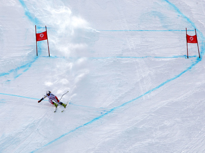 Russian leaders check out 2014 Olympic ski slope