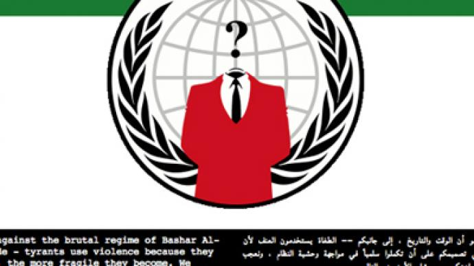 "Syria ""hacked"": Anonymous blindsides the world"