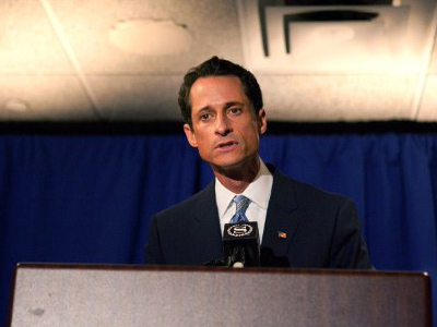 Weiner the frontrunner: Democrats back disgraced congressman in NYC mayoral race
