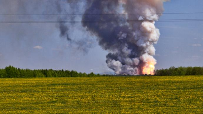 Ammunition depot fire injures twelve
