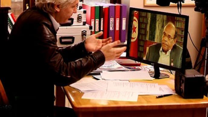 Tunisian president to Assange: I'm still a human rights activist