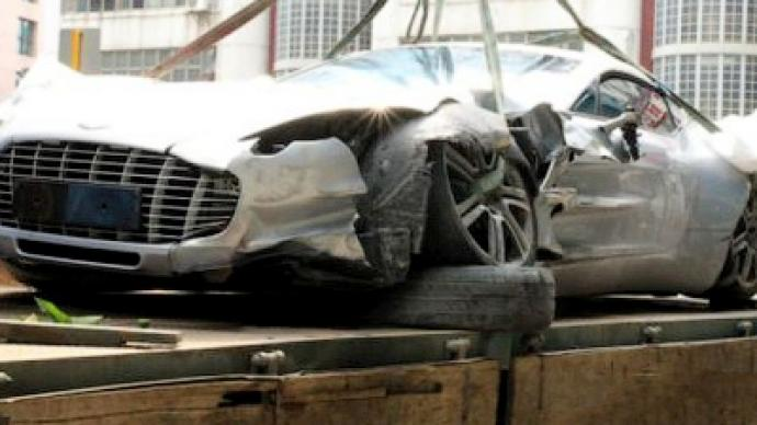 Limited edition $7mln Aston Martin mangled in China
