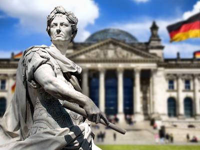 Ave Caesar, Germans salute you!
