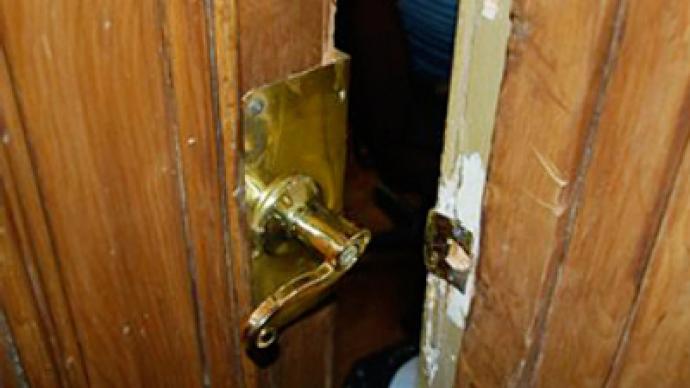 Bailiffs break down door to deliver victim to court