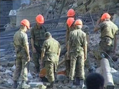 Baku building collapse: rescuers hear voices under rubble
