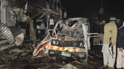 At least 45 killed, about 150 injured in twin blasts in Pakistan