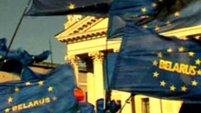 Belarusian protesters seek EU integration