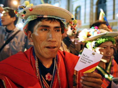 Bolivia 'throws out God'