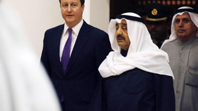 British PM securing arms deals in the wrong place at the wrong time - activist