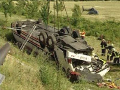Bus crash in Germany claims 13