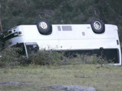 Bus overturns in Rostov region