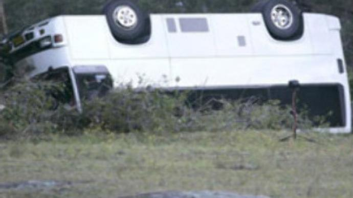 Bus overturns in Rostov region