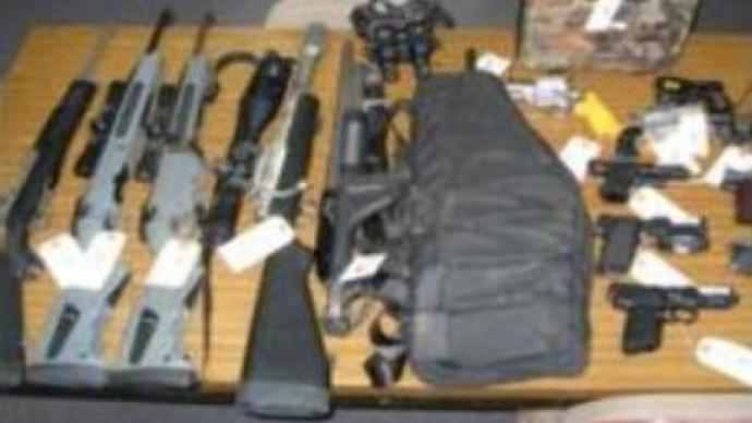 Cache of weapons found near Moscow