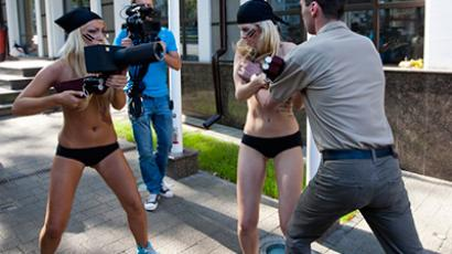 Naked ambition: Ukrainian topless protests go global