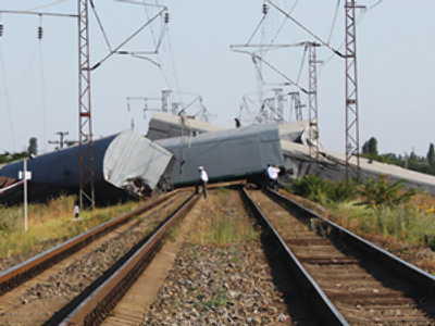 Train blown up in southern Russia