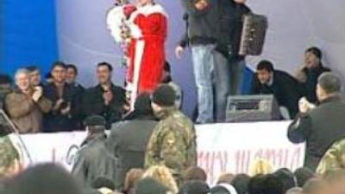 Celebrations in Grozny: Father Frost turns out to be Chechen PM Kadyrov