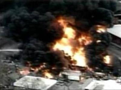 Chemical storage depot explodes in the U.S.