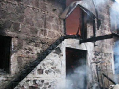 Civilians perish as Georgian troops torch church