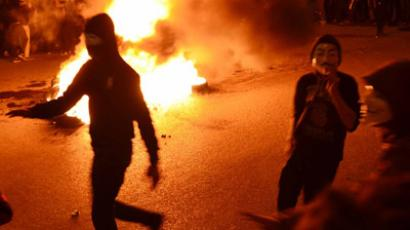 Egyptian protesters torch Muslim Brotherhood HQ in Ismailia