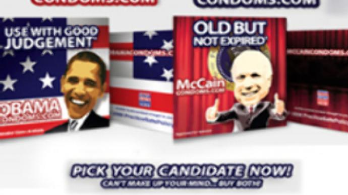 Condom wars for U.S. presidential rivals