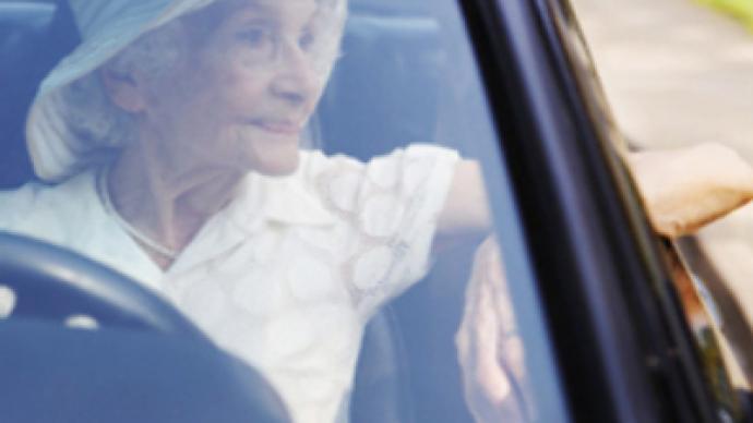 Crazy grandma hijacks off-road car