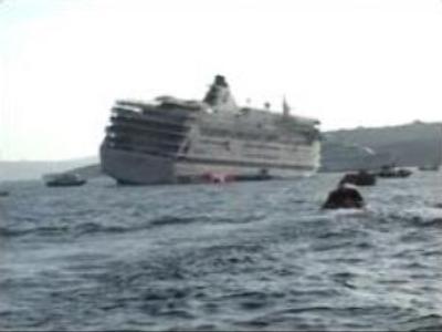 Cruise ship evacuated in Aegean Sea