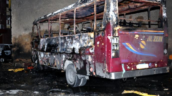 Damascus car blast kills six despite proposed ceasefire (PHOTOS)