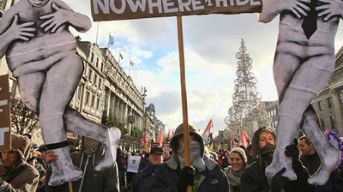 Over 100,000 Dubliners protest austerity plan