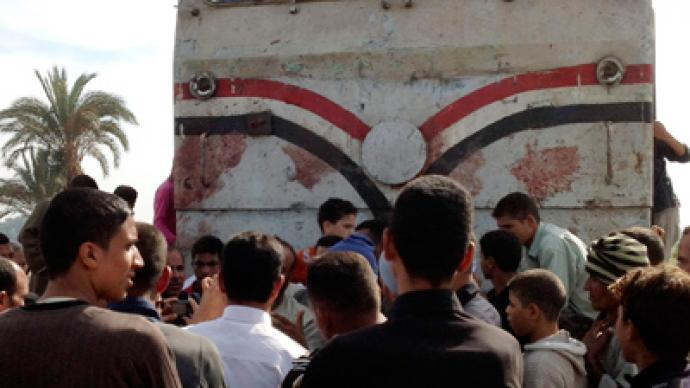At least 50 children killed in Egypt as train hits bus