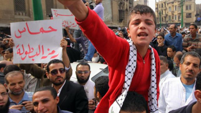 Standing with Gaza: Egyptian protesters 'refuse Israel and politics of America' (PHOTOS)