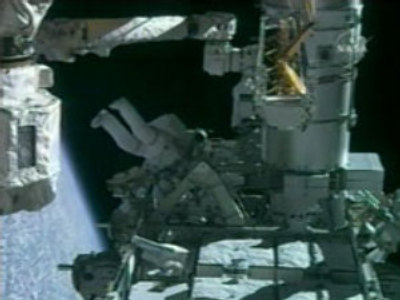 Endeavour astronauts on spacewalk