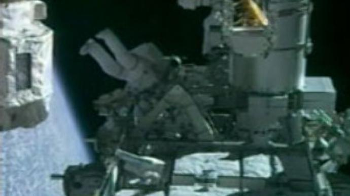 Endeavour astronauts on spacewalk