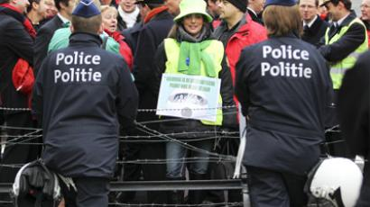 Belgium shuts down to protest austerity measures (VIDEO)