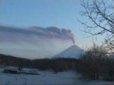 Eurasia's highest volcano erupts