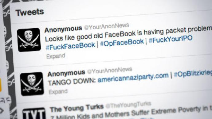 Social downer: Anonymous crash Facebook, lock out thousands