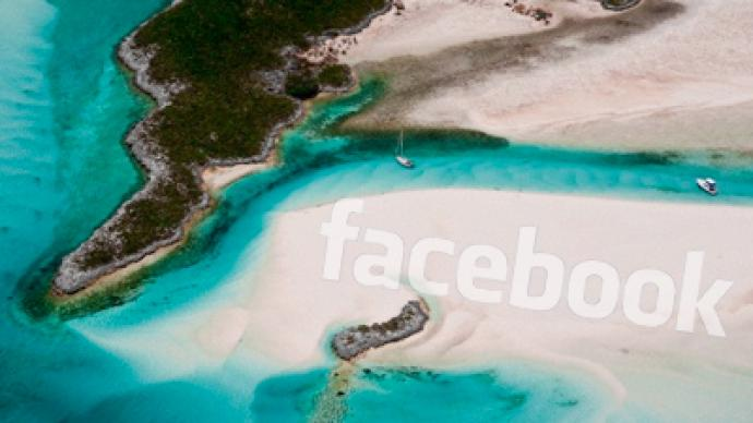 "Facebook founder invited to ""Facebook Island"""