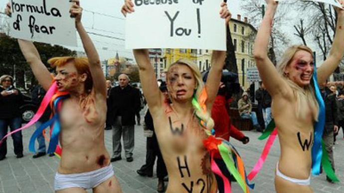 women protest Nude