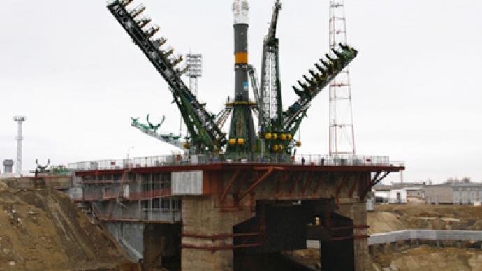 Final countdown before jubilee Soyuz launch