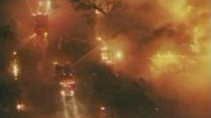 Firefighters battling blaze in Southern California