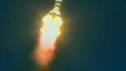 Soyuz rocket docks with the ISS