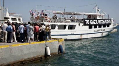 Gaza-bound aid flotilla runs grounded in Greece