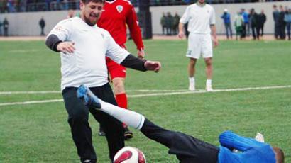 Maradona opens stadium in Grozny