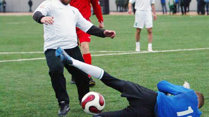 Chechnya hosts friendly football game with Brazil