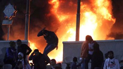 Greek football riot: Rampaging fans torch stadium (VIDEO)