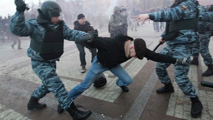 Clashes with police over football fan killing