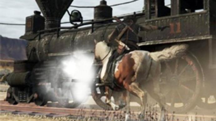 Wild train chase in Siberia