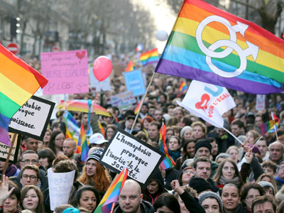 Tens of thousands protest in France defending traditional family values (PHOTOS, VIDEO)