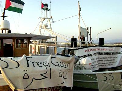 Gaza-bound aid flotilla runs grounded in Greece